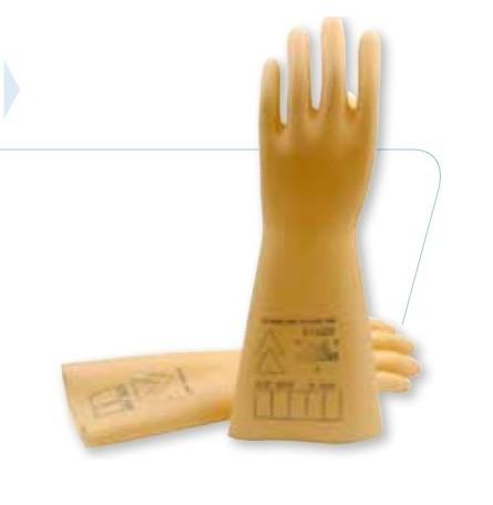 代尔塔天然乳胶绝缘手套