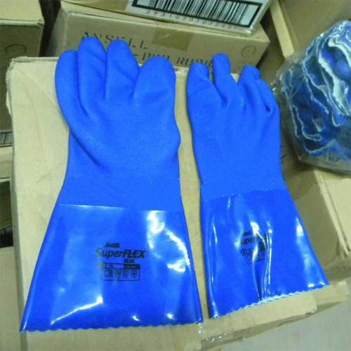 安思尔(Ansell) 4-644 SuperFlex Blue PVC防化手套