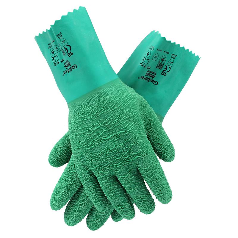 安思尔16-650丁腈防化耐高温手套