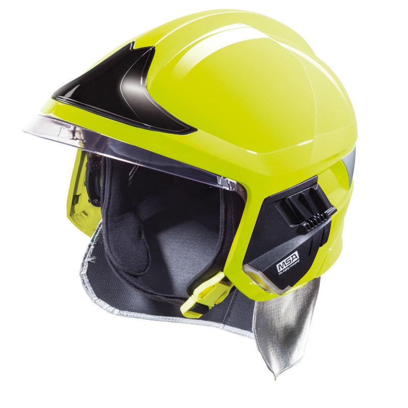 梅思安10158928黄色F1XF标准款消防头盔