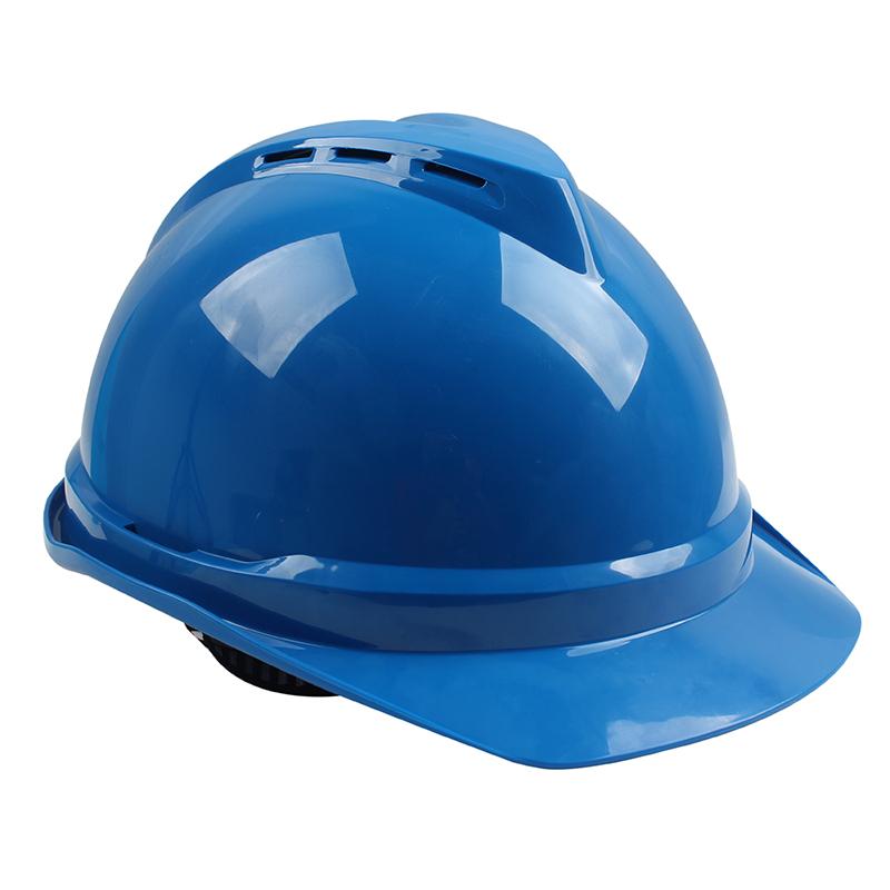 梅思安10146616湖蓝色豪华PE安全帽