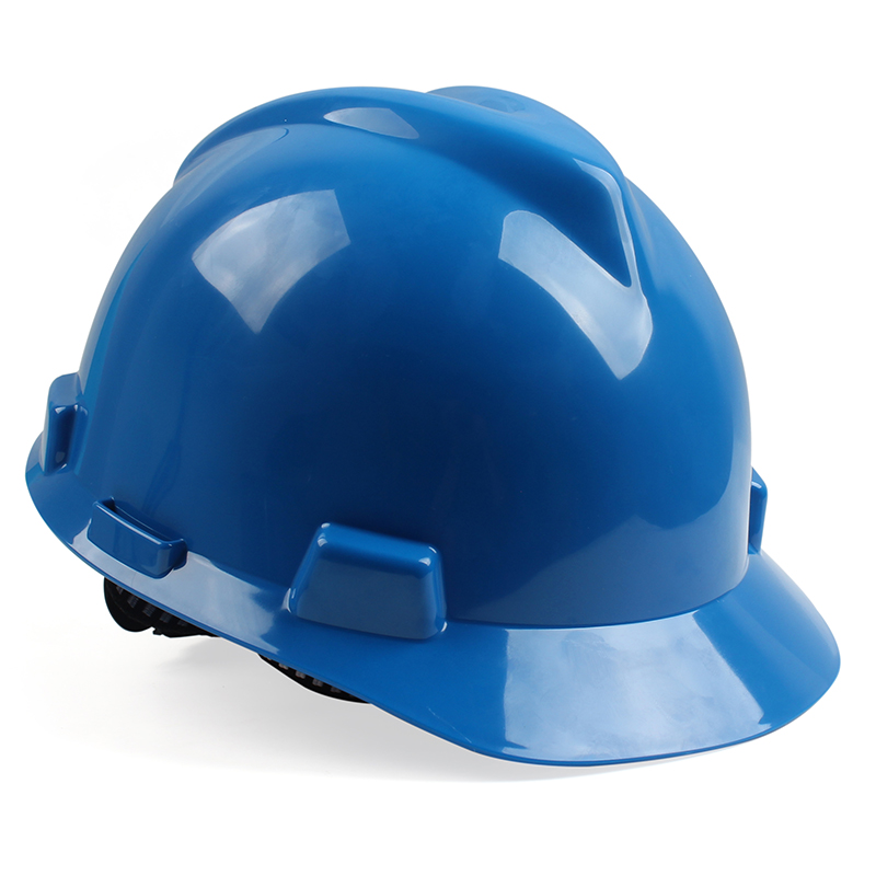 梅思安10146462蓝色标准型PE安全帽