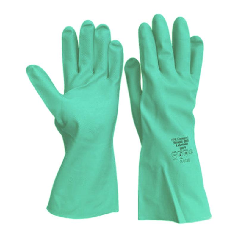 雷克兰EN19F丁腈胶高性能防化手套