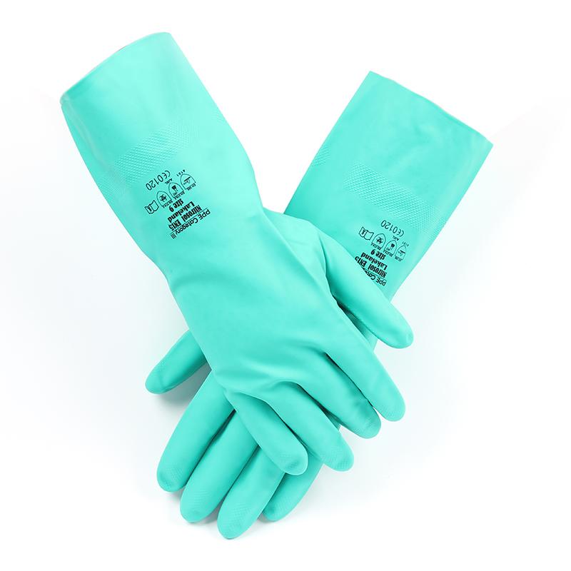 雷克兰EN15丁腈橡胶高性能防化手套