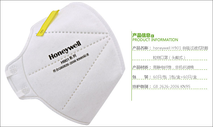 霍尼韦尔H901口罩产品介绍