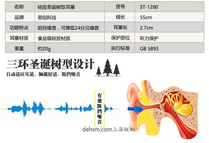 思创ST-1280硅胶防噪音耳塞介绍