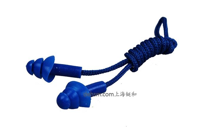思创ST-1280硅胶防噪音耳塞蓝色款图片