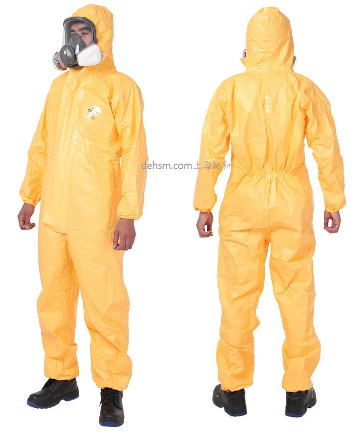 杜邦tychemC化学防护服正反面图片