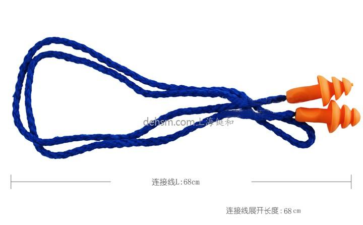 3M1270圣诞树型带线耳塞整个连接线长68cm