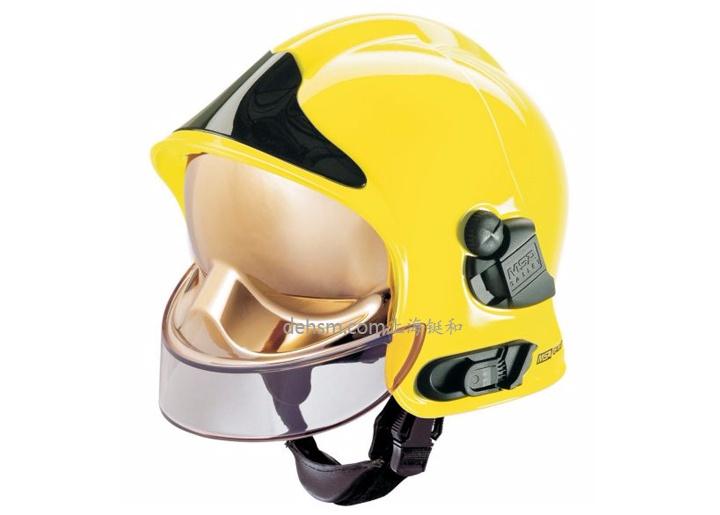 梅思安F1消防头盔图片黄色款