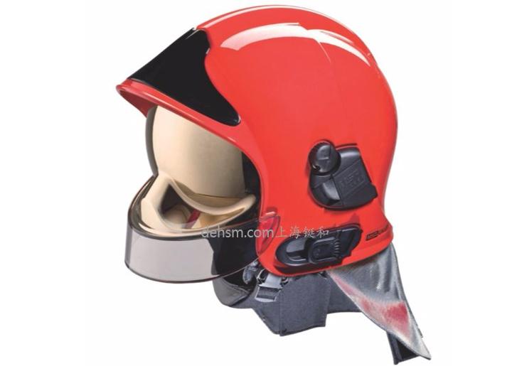 梅思安F1消防头盔图片红色款