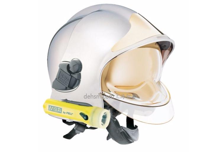 梅思安F1消防头盔图片白色款侧面