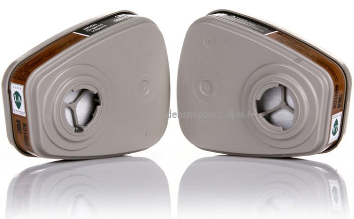 3M6001滤毒盒防有机气体滤毒盒图片-侧面
