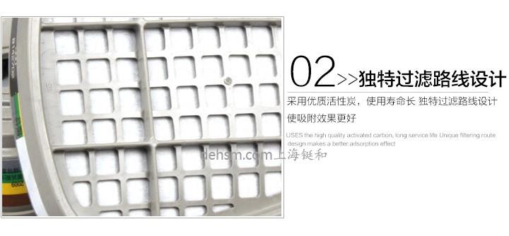 3M6006滤毒盒独特过滤线路设计