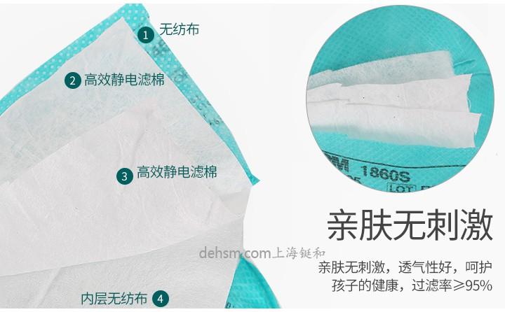 3M1860S医用N95口罩五层材质