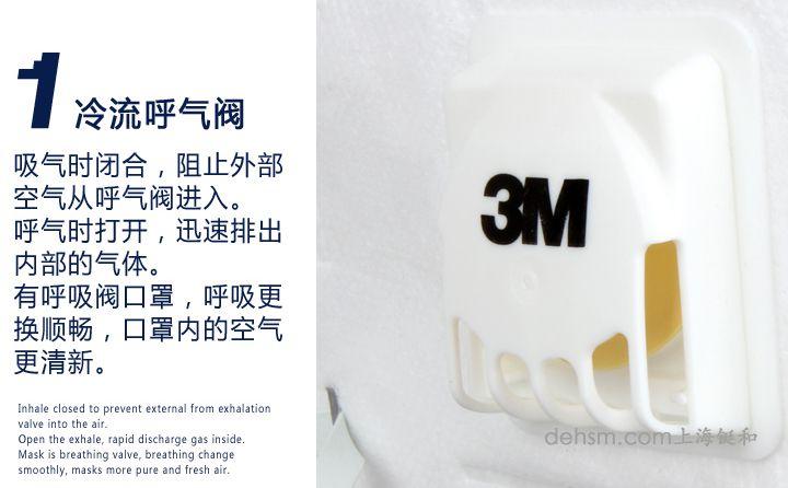 3M9001V口罩冷流呼气阀设计