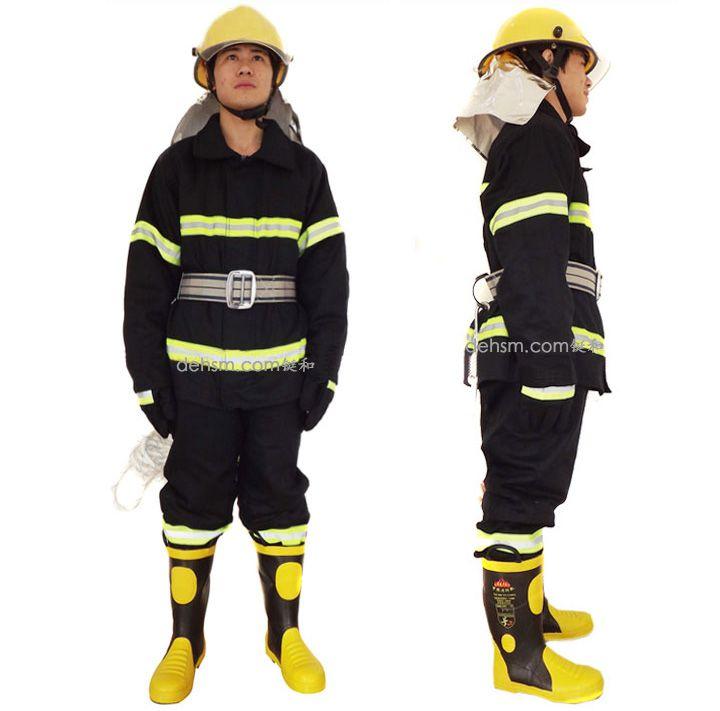 DH-02消防服套装正反面图片