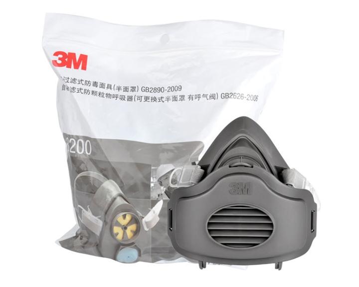 3m3200防尘口罩整套配件安装图示