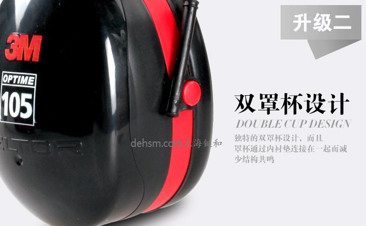 3M H10P3E防噪音耳罩双罩杯设计