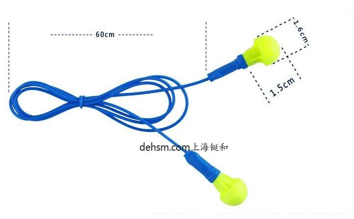 3M318-1005免揉搓带线防噪音耳塞尺寸