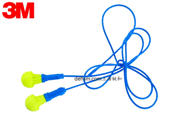3M318-1005免揉搓带线防噪音耳塞图片-正面