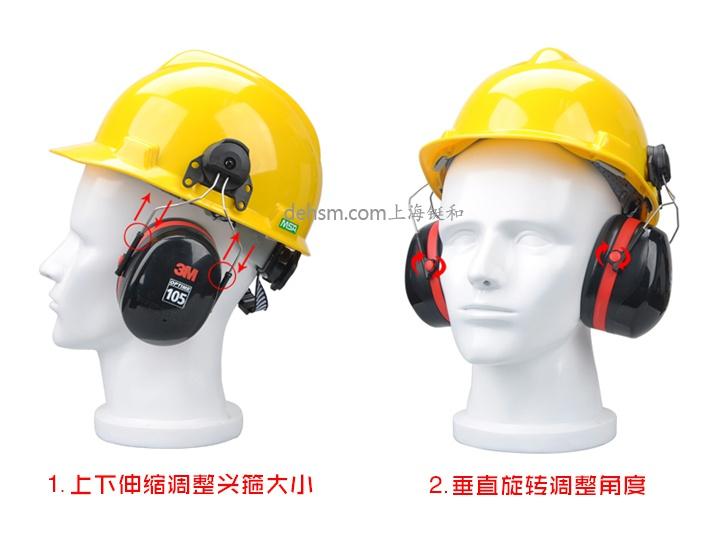 3M H7P3E挂安全帽式隔音耳罩图片-配安全帽