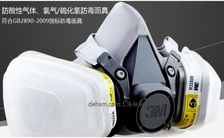3M6200+6002防硫化氢及酸性气体防毒面具