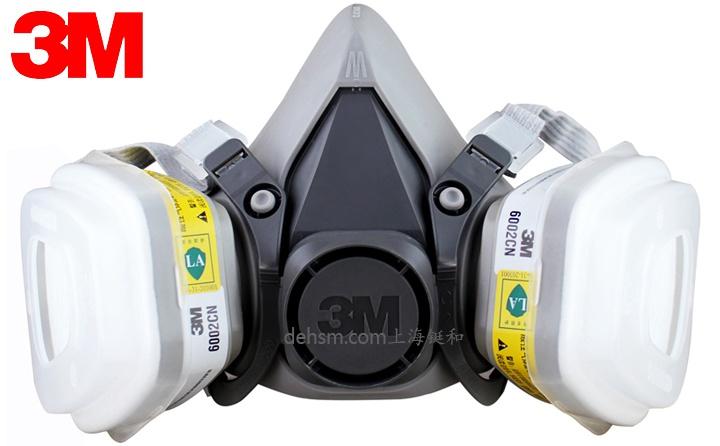 3M6200+6002防硫化氢及酸性气体防毒面具图片-正面