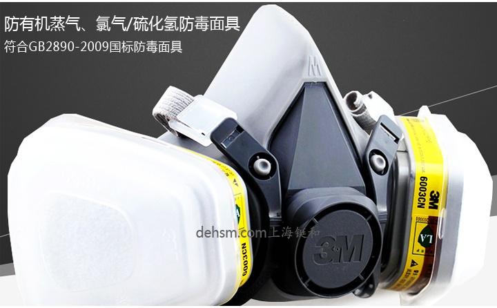3M6200+6003防有机及酸性气体防毒面具