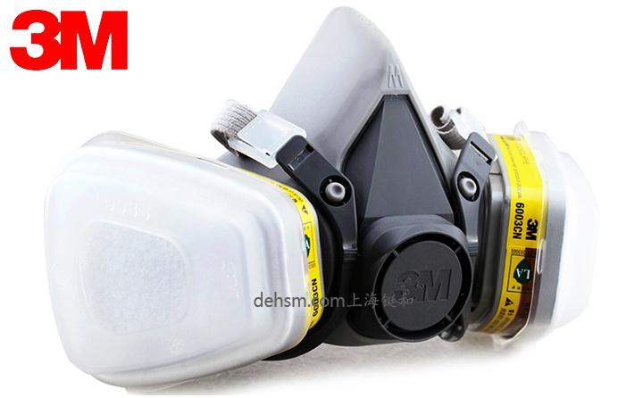 3M6200+6003防有机及酸性气体防毒面具图片-正面