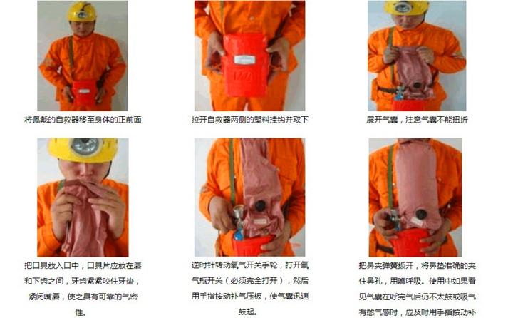 ZYX30隔绝式压缩氧自救器使用方法