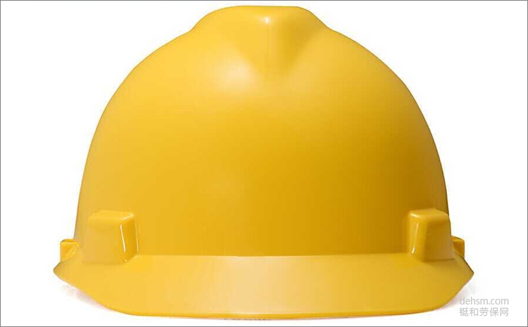 MSA梅思安10146507黄色ABS安全帽图片-正面