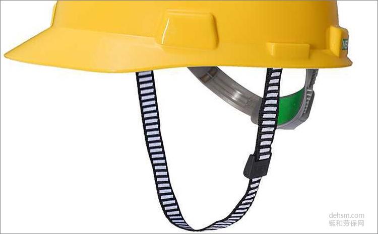 MSA梅思安10146507黄色ABS安全帽D型下颌带图片