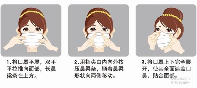 一次性口罩的正确戴法