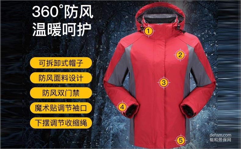 雷克兰BR207女款户外防寒服产品特点说明