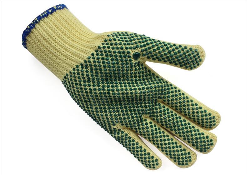 杜邦KK1051kevlar点塑防割手套图片-正面