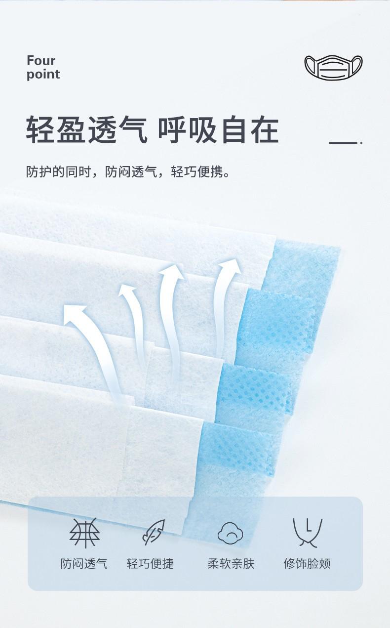定和DH9001一次性使用无纺布口罩柔软亲肤,佩戴舒适