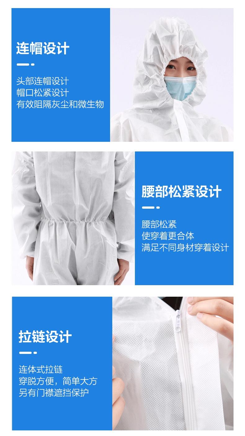 一次性使用医用隔离衣连帽设计,要不松紧设计