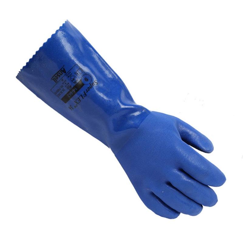 安思尔14-666 PVC防化手套图1