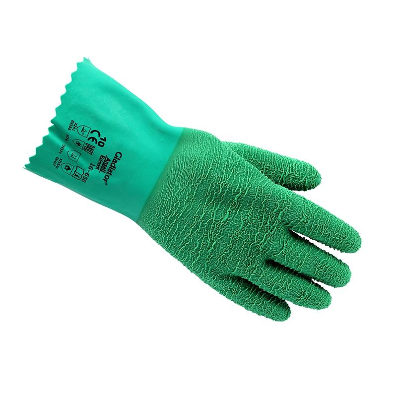 安思尔16-650丁腈防化耐高温手套图1