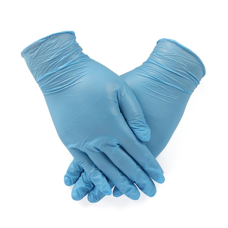 安思尔92-200蓝色一次性无粉丁腈手套图3