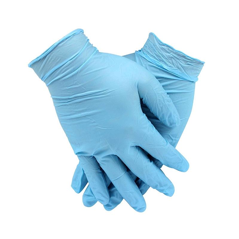 安思尔92-210蓝色一次性无粉丁腈手套图3