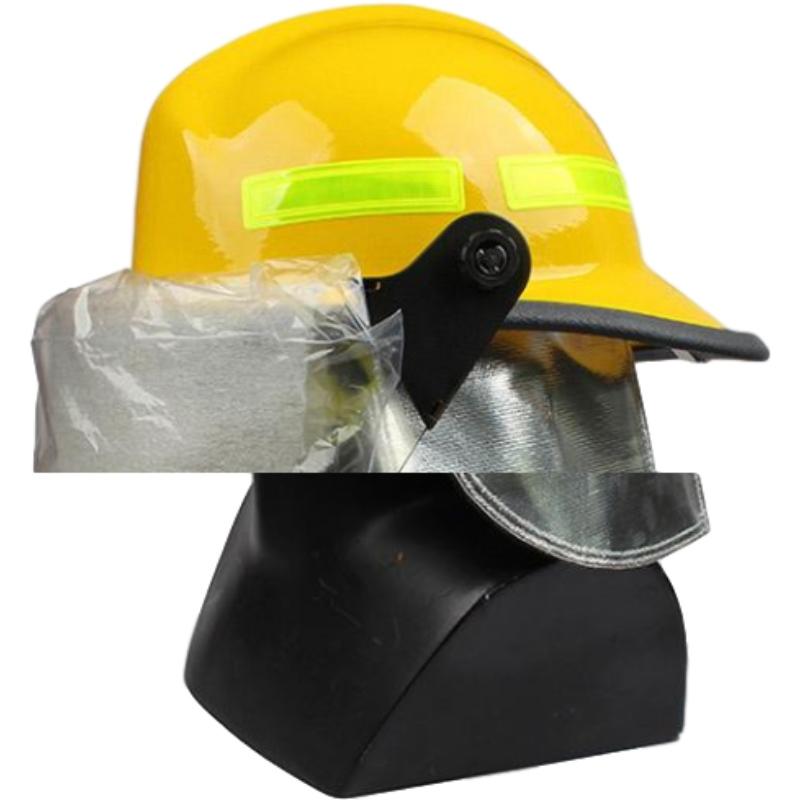 梅思安10107114-a黄色F3美式铝质披肩消防头盔图1