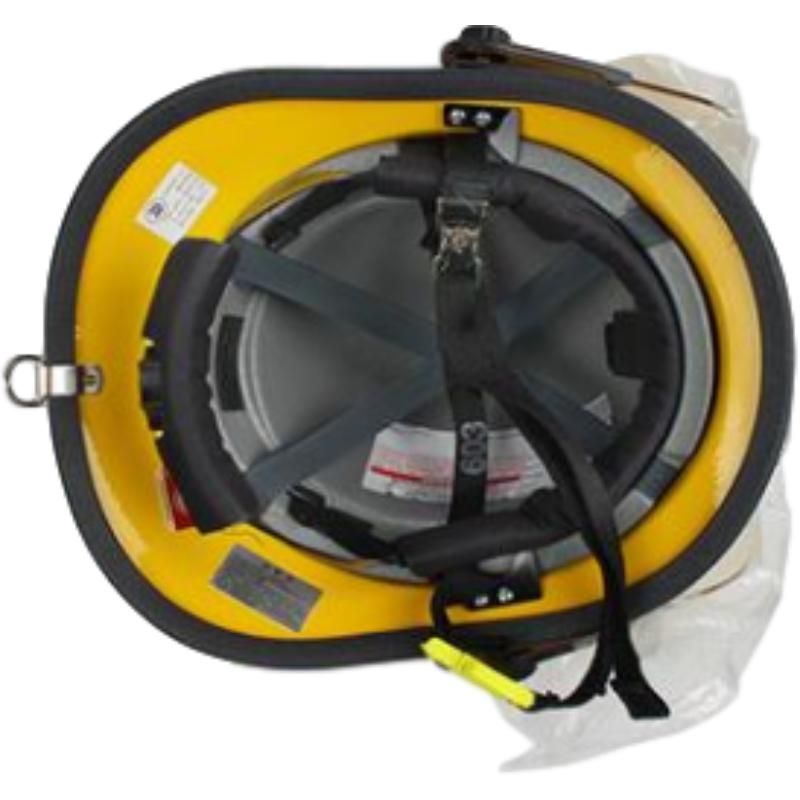 梅思安10107114-a黄色F3美式铝质披肩消防头盔图5