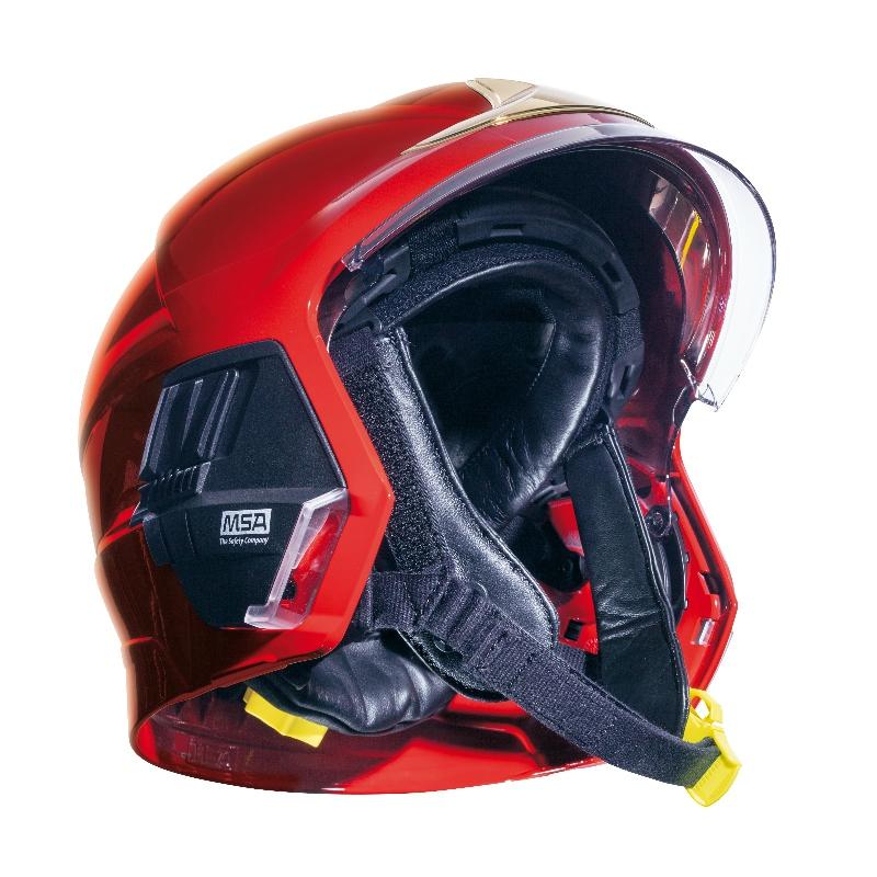 梅思安10158928黄色F1XF标准款消防头盔 图1