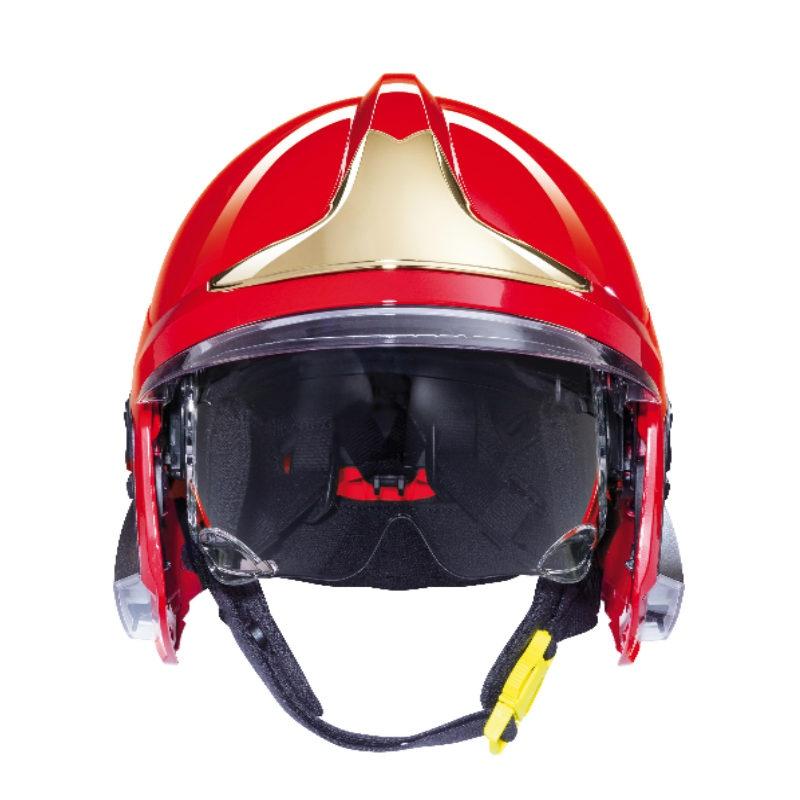 梅思安10158928黄色F1XF标准款消防头盔 图2