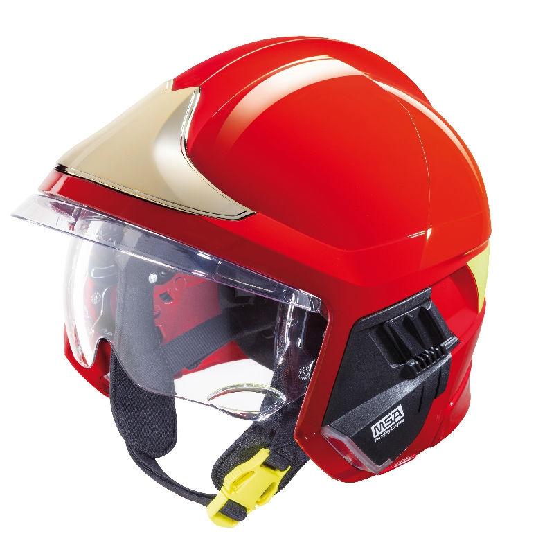 梅思安10158928黄色F1XF标准款消防头盔 图3
