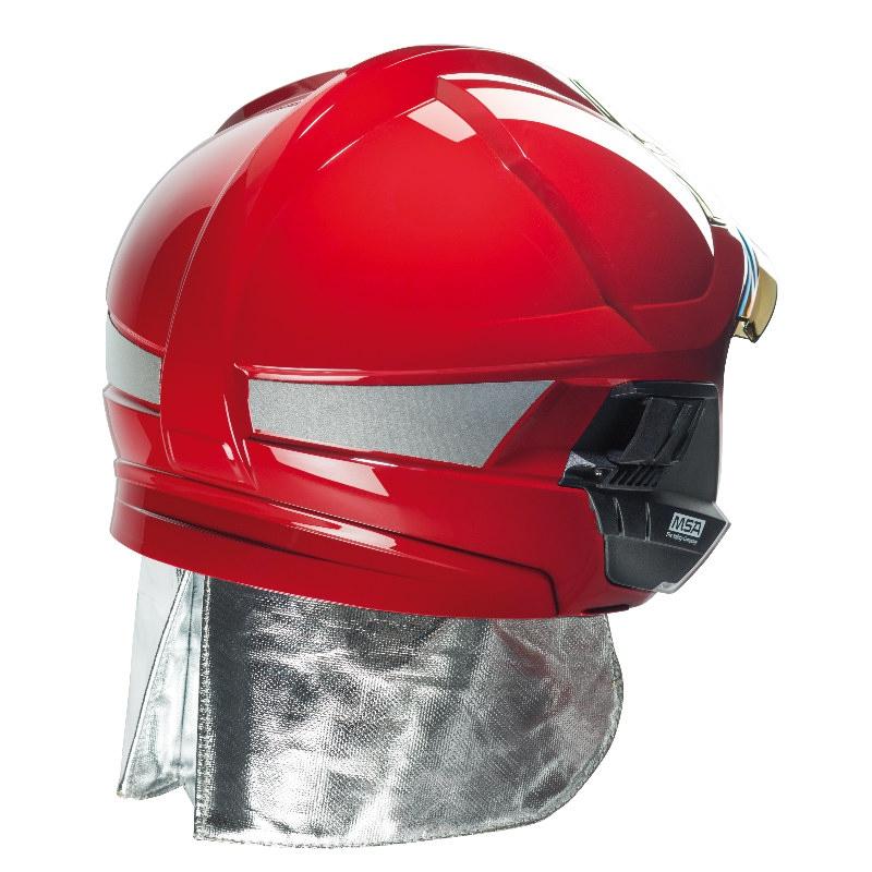 梅思安10158928黄色F1XF标准款消防头盔 图4