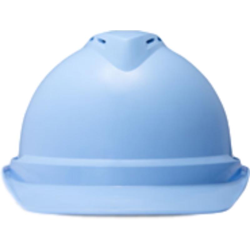 梅思安10146616湖蓝色豪华PE安全帽图2
