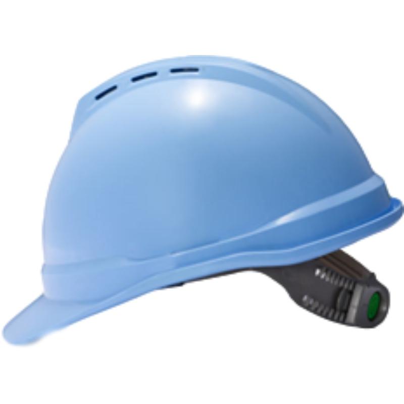 梅思安10146616湖蓝色豪华PE安全帽图3
